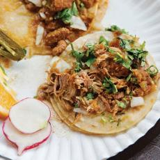 Braised Pork Carnitas and Tacos