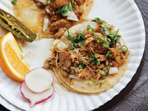 Braised Pork Carnitas and Tacos